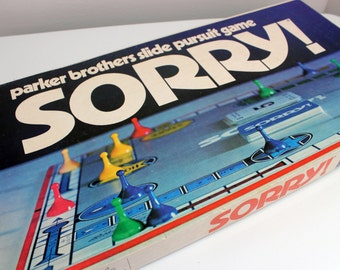 Vintage Sorry Board Game by Parker Brothers Complete 1970s