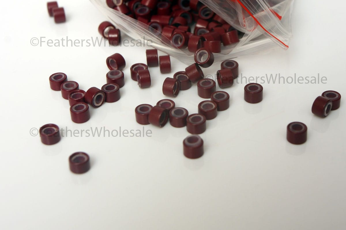 Silicone crimp beads burgundy red 50 hair beads 5mm hair extension silicone crimp beads burgundy red 50 hair beads 5mm hair extension beads pmusecretfo Gallery