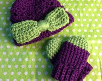 Tallulah Hat & Mittens (thumbless)