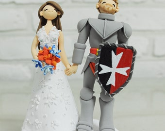 Knight theme custom wedding cake topper Decoration