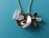 Silver cluster pendant
