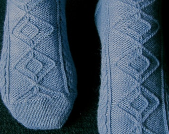 Knit Sock Pattern:  Einstein's Favorite Socks Knitting Pattern