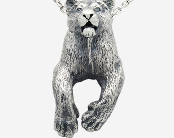 Sterling Silver Lioness Pendant