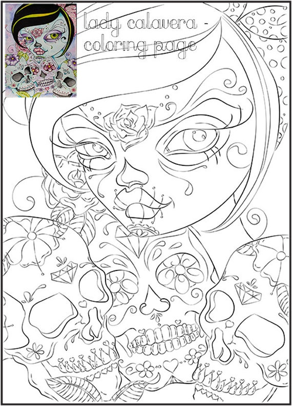 Day Of The Dead Skull Coloring Page. Skull Coloring Pages Coloring ...