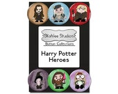 Harry Potter Heroes Button Set Harry Potter Pins Pinback Buttons