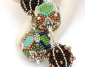 Sale Earrings reduced 40% - beaded beads by Sharri Moroshok