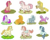 PONY - Machine Applique Embroidery - Instant Digital Download