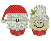 Mr & Mrs SANTA - Machine Embroidery - 2 Patterns in 3 Sizes - Instant Digital Download