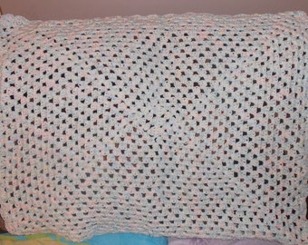 crochet baby afghan, baby shower gift, photo prop