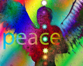 "Angel of Peace 8"" X 10"" Print"