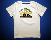 Baby one piece or toddler t-shirt - Embroidery and appliqued boys I dig Pre-school shirt
