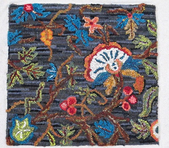 Jacobean Rug Hooking Pattern