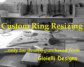 Custom Ring Re-sizing for Customers of Gioielli Designs