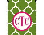 CLOVER wine tote - customizable pattern and monogram - fits both standard 500ml and larger 1.5 liter bottles