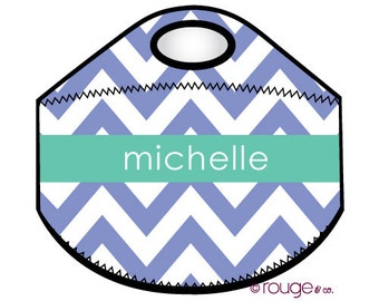 CHEVRON monogrammed lunch tote - with customizable pattern and monogram