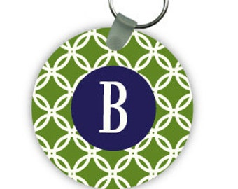 CIRCLES  keychain with monogram