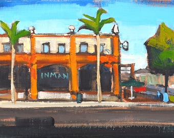 Starbucks, North Park- San Diego Landscape Painting