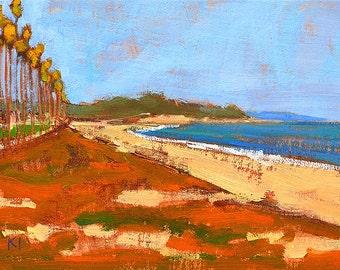 Santa Barbara Beach Painting Landscape