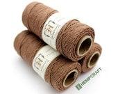 Hemp Twine, Brown High Quality 1mm Light Brown Dyed Craft Cord