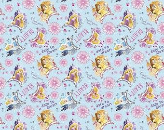 Disney Princess I am Princess Cotton Fabric, 1 yard