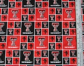 Texas Tech University Collegiate Fabric 1 yard