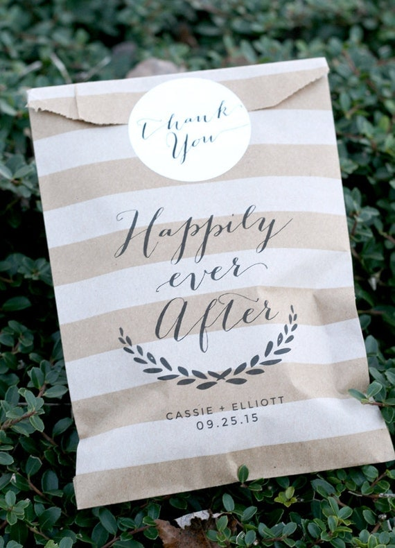 Wedding Gift Bags Printed : Ever After Custom Printed Favor Bag- Personalized - Wedding Favor Bag ...