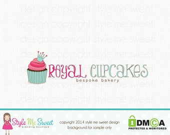 cupcake logo design crown logo design bakery logo design bakers logo design graphic design premade logo design branding logo watermark logo