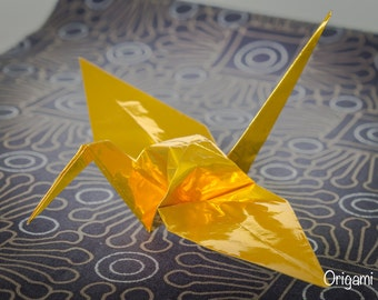 6 inches gold cranes (25 pieces)