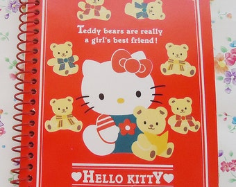 The Hello Kitty Notebook with Rare Stickers.Sanrio.1995.Perfect for my Secrets