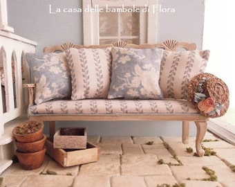 NEW Gustavian bench - 1/12 1 inch dolls house dollhouse miniature