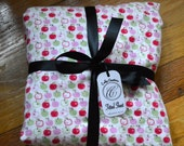 Flannel Fitted Crib Sheet -  An apple a day