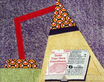 Old Time Learning  paper pieced quilt block PDF INSTANT DOWNLOAD  Sewing Pattern
