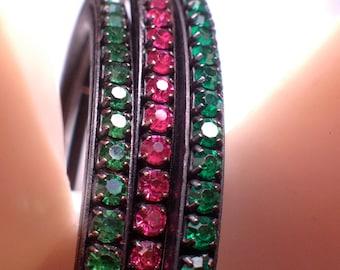 VIntage Bracelet Designer Signed Joseph Warner Costume Jewelry Rare Beauty