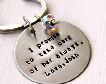 Father of the Bride Gift - Mother of the groom gift from bride -  Keychain - Gift For Brides Mother - Gift For Father of the Bride -  Brides
