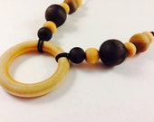 Local Pick-up- Non-toxic wood bead and hemp necklace, nursing necklace, breastfeeding necklace, teething necklace
