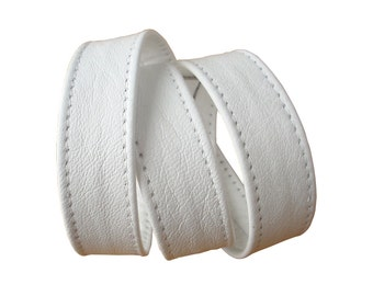 Basic 3 wrap leather bracelet cuff, white plonge cowhide, essential wardrobe accessories, made to order