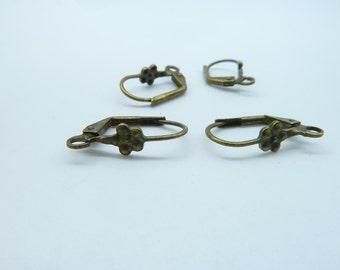 20pcs 10x19mm Antique Bronze Brass French Earring Hook Earwires C3221