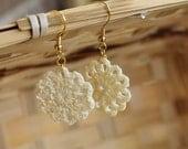 Crochet Earrings... Mini Circle Doily Dangles