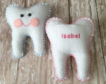 Custom Name Personalize Tooth Fairy Pillows Your choice of color