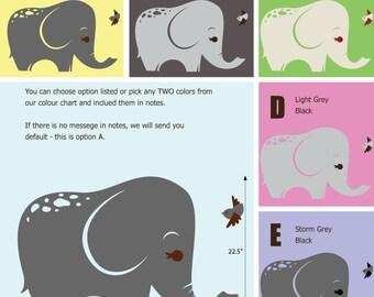 Shy Elephant Wall Decals - Jungle Wall Stickers - Safari Wall Decals