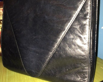 Vintage Purse. Charles Jourdan Purse. Black Purse. Black Leather Purse. 80's Charles Jourdan Black Purse. Reduced