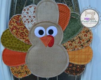 Burlap Turkey Door Hanger Thanksgiving Burlap Door Hanger Turkey Door  Hanger Turkey Wreath Turkey For The