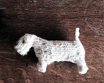 Sealyham Terrier dog knitted in wool