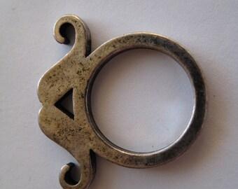 1 Silver Mustache Ring