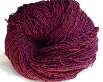 Cashmere Cotton Recycled Yarn, Burgundy, Lace Weight, 414 yards
