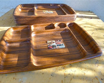 Vintage Wenge Lunch Tray 1950s Upcycling