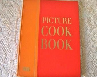 Vintage Picture Cookbook Life Cookbook Big Orange Cookbook 1959 Coffee Table Cookbook Retro Cookbook Entertaining 1950s Photos