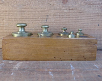 Vintage Italian Apothecary Brass Weights