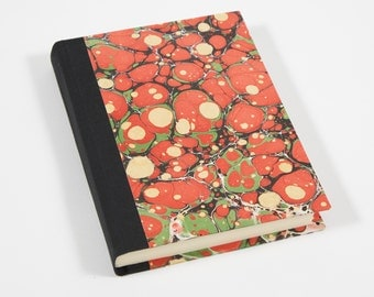 Marbled Journal - Coral and Green - Daily Writing Journal - Diary