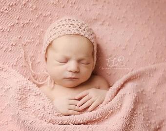 angora bonnet, newborn bonnet, simple bonnet, newborn girl bonnet, bonnet, newborn, newborn girl hat, newborn hat, accessories, hat, baby